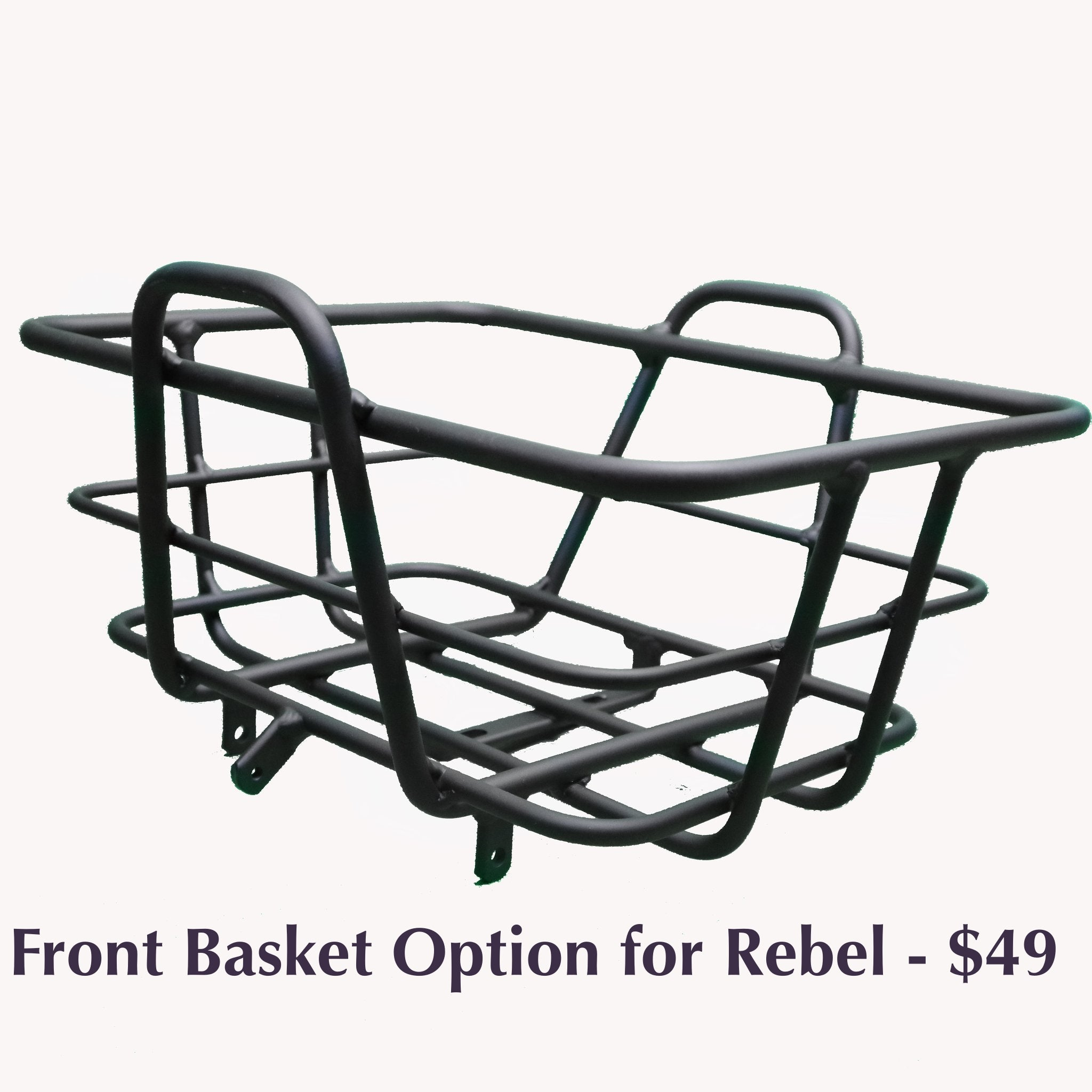 Civi Front Basket for Rebel - Black - Electric Folding Bike Ridetique.com
