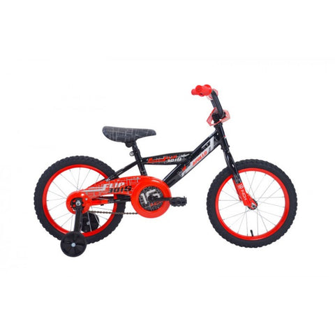 Apollo | Flipside 16 in Boys Black/Red Kids Bicycle