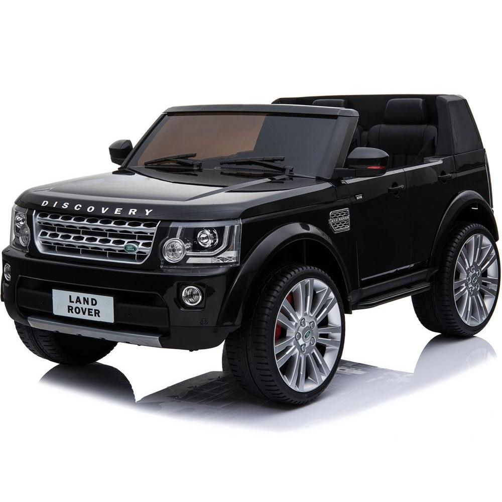 Mini Moto Land Rover Discovery 12v Black (2.4ghz RC) - Ride On Toys Black Ridetique.com