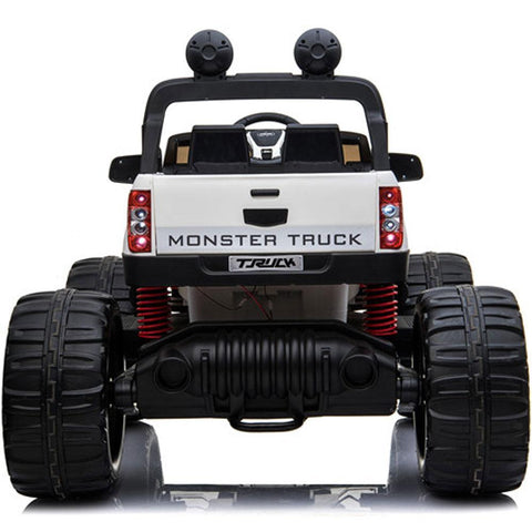 MotoTec Monster Truck 4x4 12v Black (2.4ghz) - Electric Mini Quad Ridetique.com