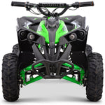 MotoTec 36v 500w Renegade Shaft Drive Kids ATV - Green - Electric Mini Quad Ridetique.com