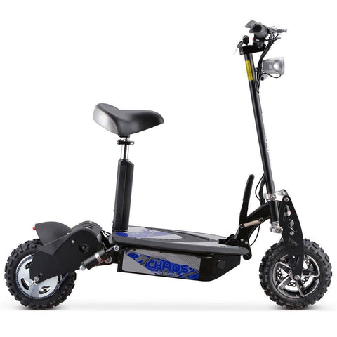 MotoTec Chaos 2000w 60 v Lithium Electric Scooter-Black - Electric Scooter Ridetique.com