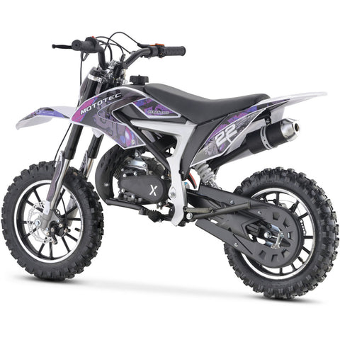 MotoTec 50cc Demon Kids Gas Dirt Bike - Gas Dirt Bike Ridetique.com