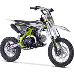 MotoTec X2 110cc 4-Stroke Gas Dirt Bike Green