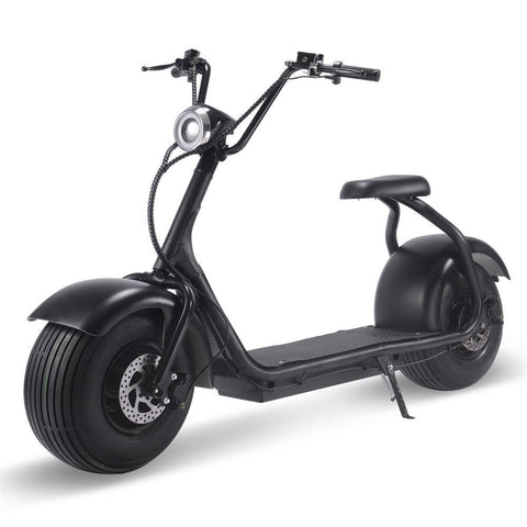 MotoTec Fat Tire 60v 18ah 2000w Lithium Electric Scooter Black - Electric Scooter Ridetique.com