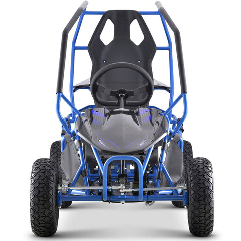 MotoTec Maverick Go Kart 36v 500w - Blue - Electric Scooter Ridetique.com