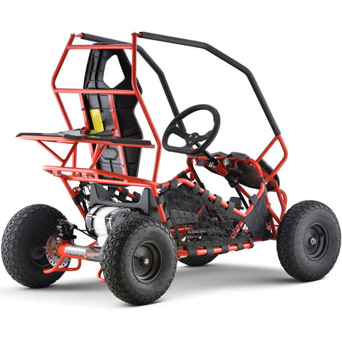MotoTec Maverick Go Kart 36v 500w - Red - Electric Scooter Ridetique.com
