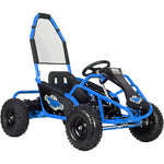 MotoTec Mud Monster Kids 48v 1000w Go Kart Full Suspension - BLUE