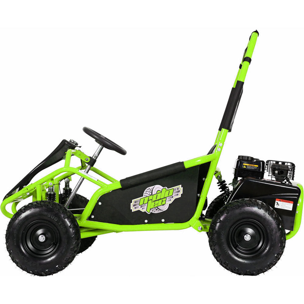 MotoTec Mud Monster Kids Gas Powered 98cc Go Kart Full Suspension - GREEN