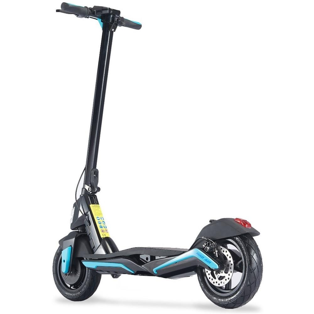MotoTec Mad Air Velocifero 36v 350w Lithium Electric Folding Scooter - Electric Scooter Blue Ridetique.com