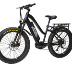 "BAKCOU MULE - Mid Drive Step Thru (ST) Fat Tire Hunting Bike - 26"" Tires"
