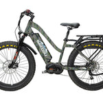 "BAKCOU MULE - Mid Drive Step Thru (ST) Fat Tire Hunting Bike - 26"" Tires-Electric Bike-Ridetique"