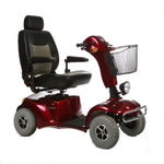 Merits USA - Pioneer 10 - Four wheel mobility scooter - Mobility Scooter Red Ridetique.com