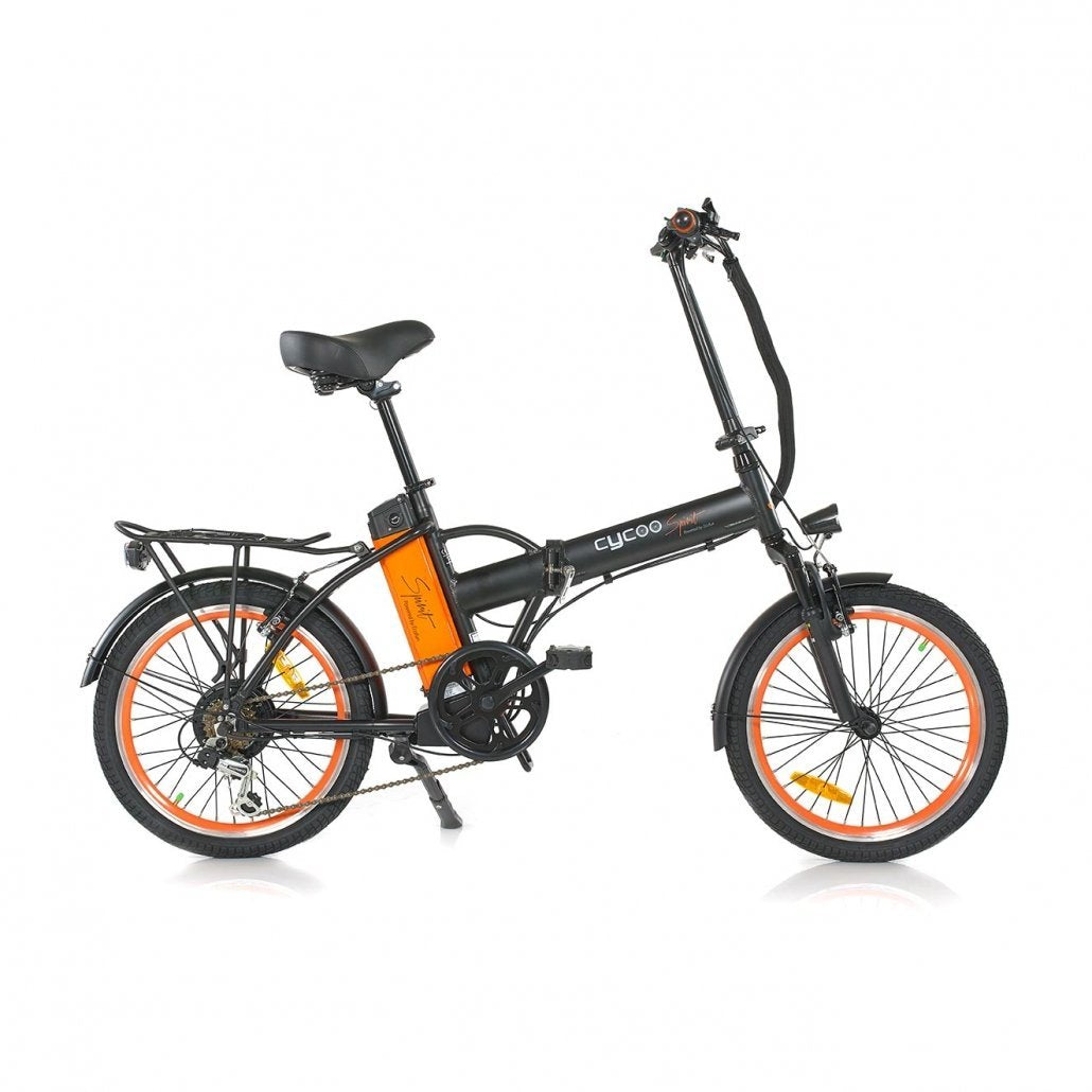 GreenBike Alpha Speed 36v 250w 20-Inch Folding Electric Bicycle - Electric Bike Black Ridetique.com