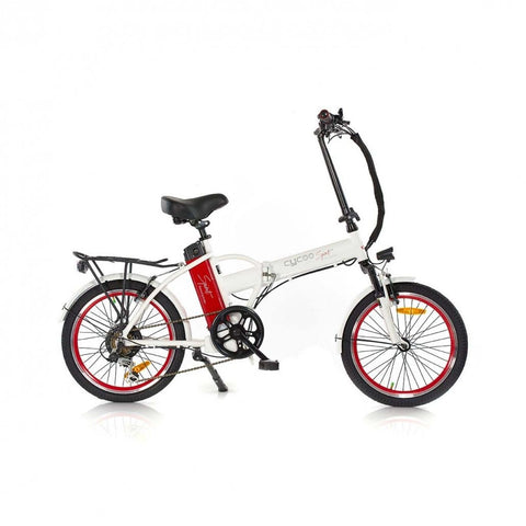 GreenBike Alpha Speed 36v 250w 20-Inch Folding Electric Bicycle - Electric Bike White Ridetique.com