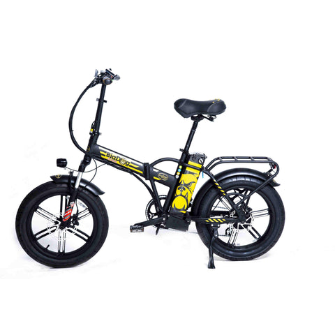 GreenBike Big Dog Extreme 48v 750w High Step Folding Fat Tire Electric Bicycle - Electric Bike Ridetique.com