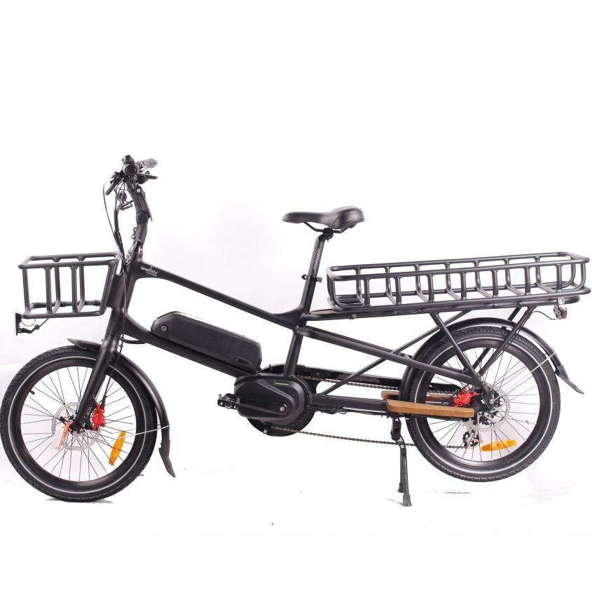 GreenBike Cargo 48v 500w Family Car Electric Bicycle - Electric Bike Black Ridetique.com