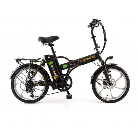 GreenBike Legend HD 48v 350w High-Step Folding Electric Bicycle - Electric Bike Black / Black Ridetique.com