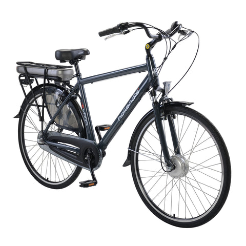 Hollandia Evado Nexus 3 Speed Men's 700c Charcoal Gray Electric Bicycle - Electric Bike Ridetique.com