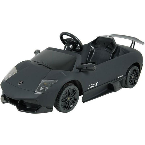 Kalee Kids 12v Electric Lamborghini Murcielago Ride On Car in Black - Ride On Toys Ridetique.com