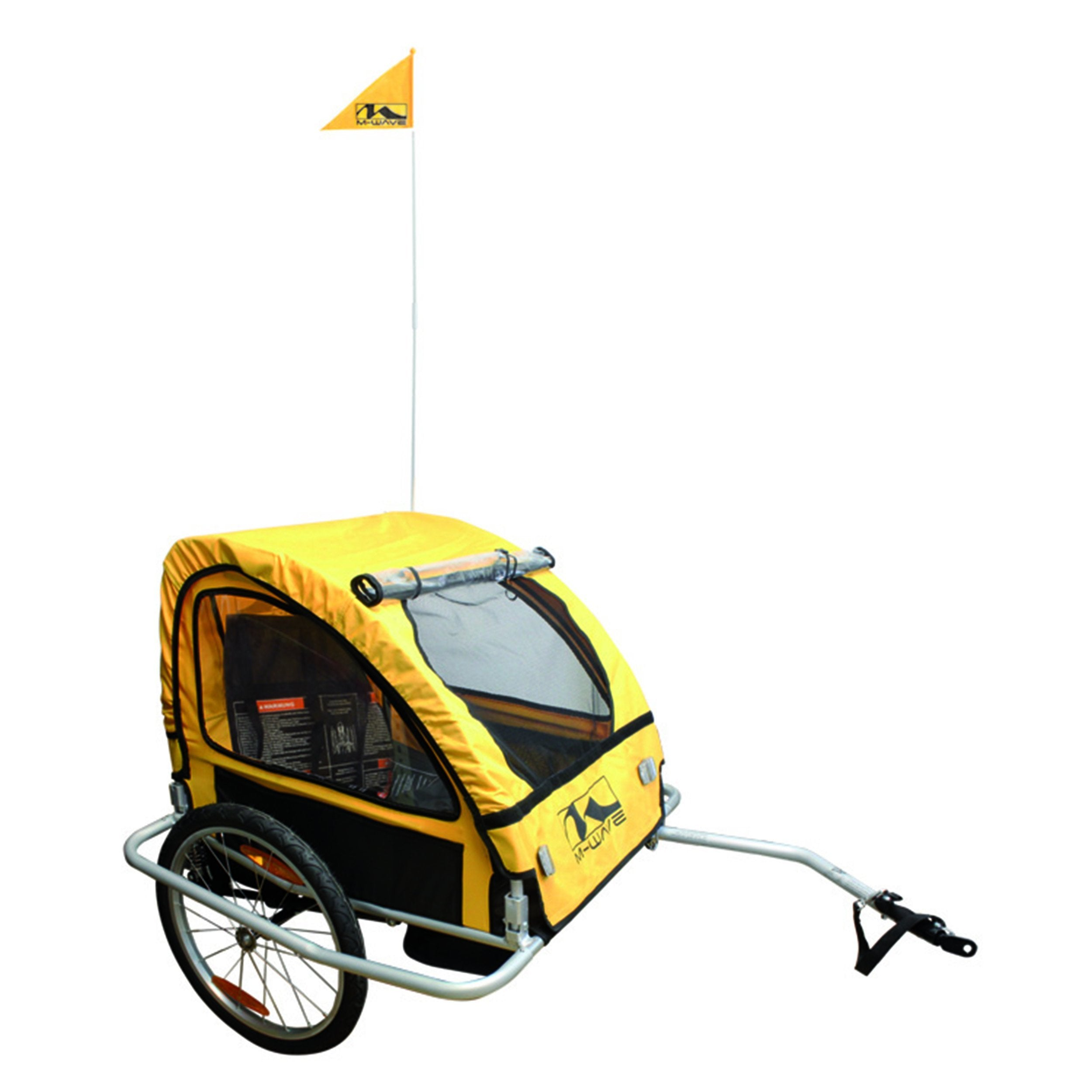 M-Wave Alloy Children's Trailer with Suspension - Trailer Ridetique.com