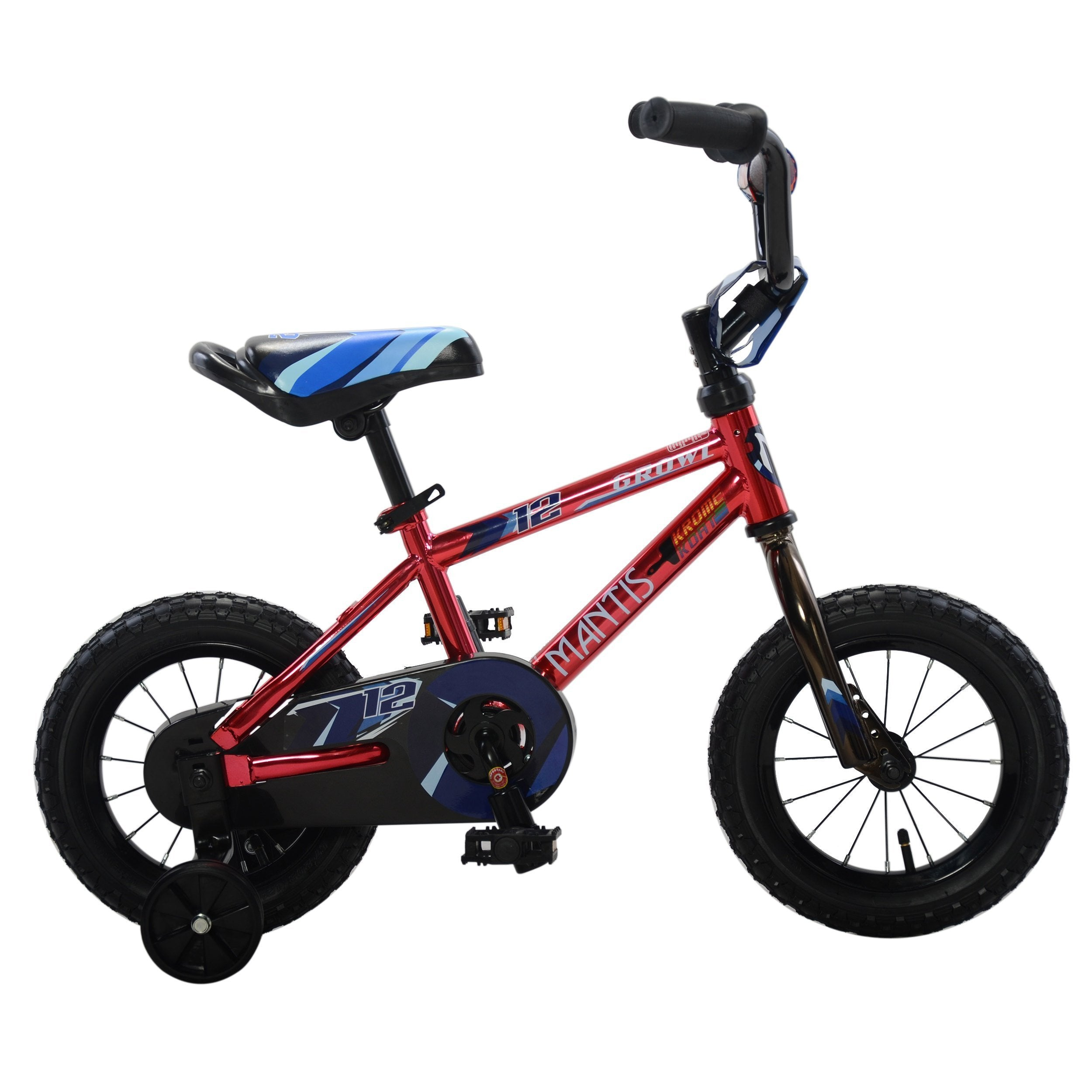 Mantis Growl Single Speed Ready2Roll Kids Bicycle - Kids Bicycle 12 Inch / Red Ridetique.com