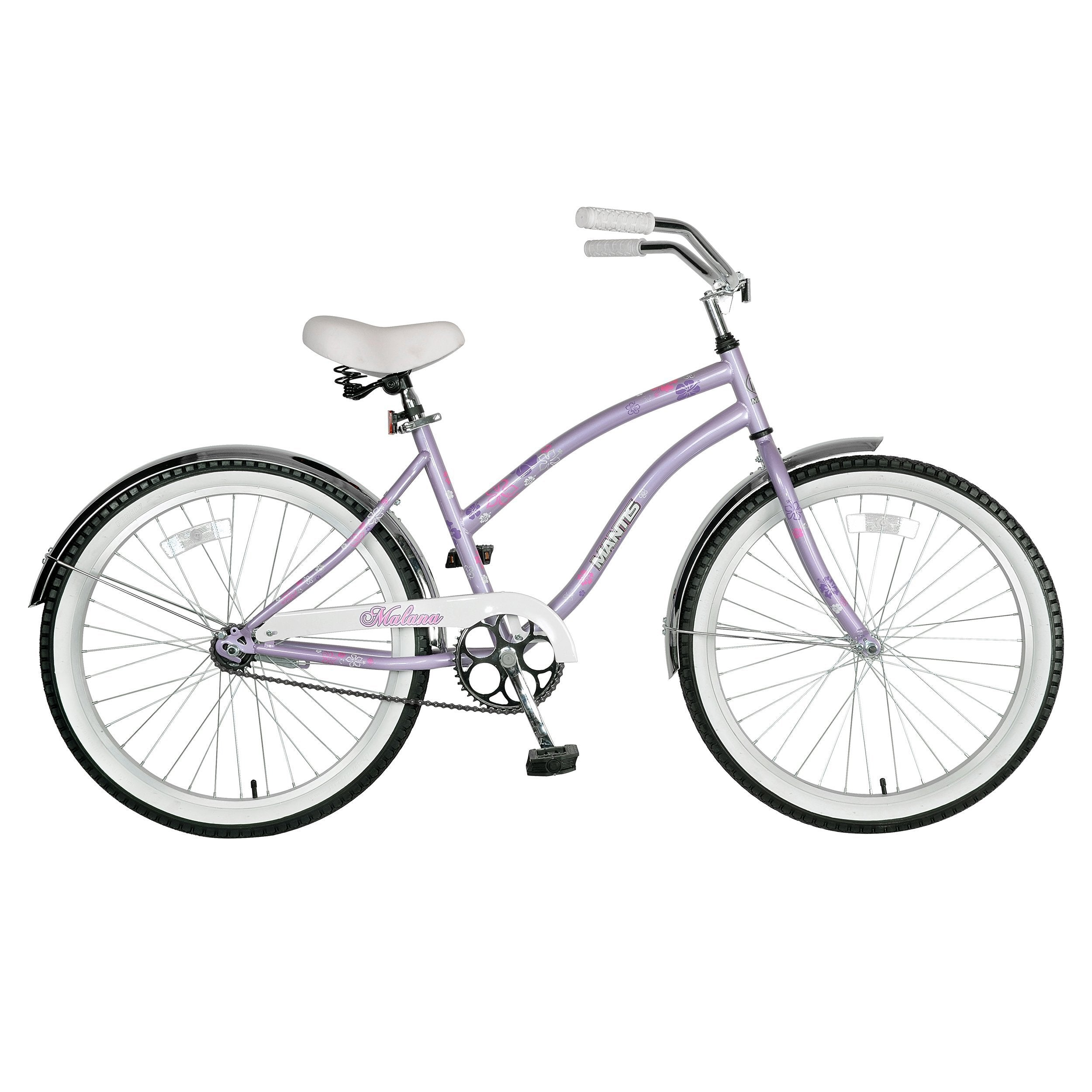 Mantis Malana Single Speed 24-Inch Ladies Cruiser Bicycle - Bicycle Ridetique.com