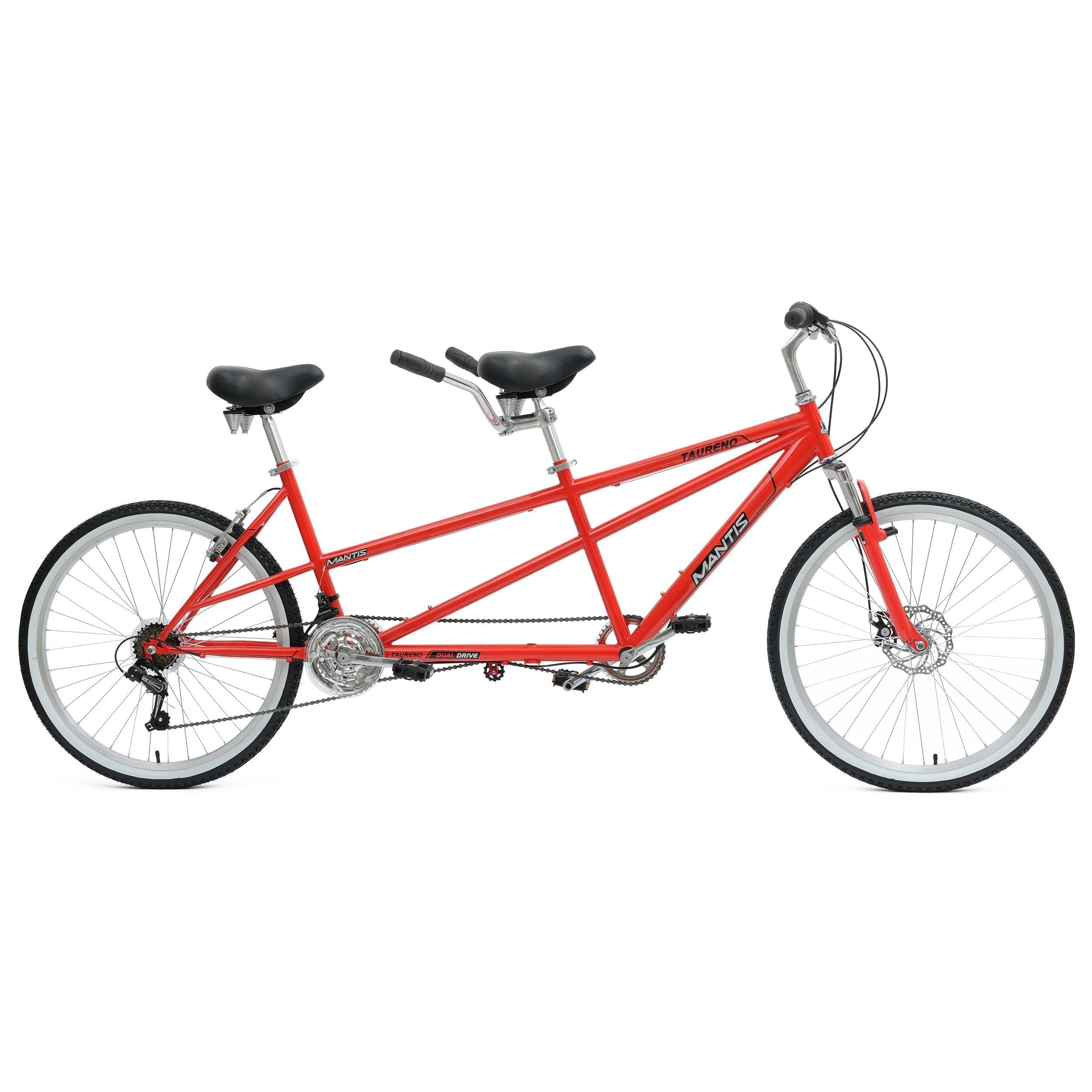 Mantis Taureno 18 Speed 26 Inch Tandem Bicycle - Tandem Bicycle Ridetique.com
