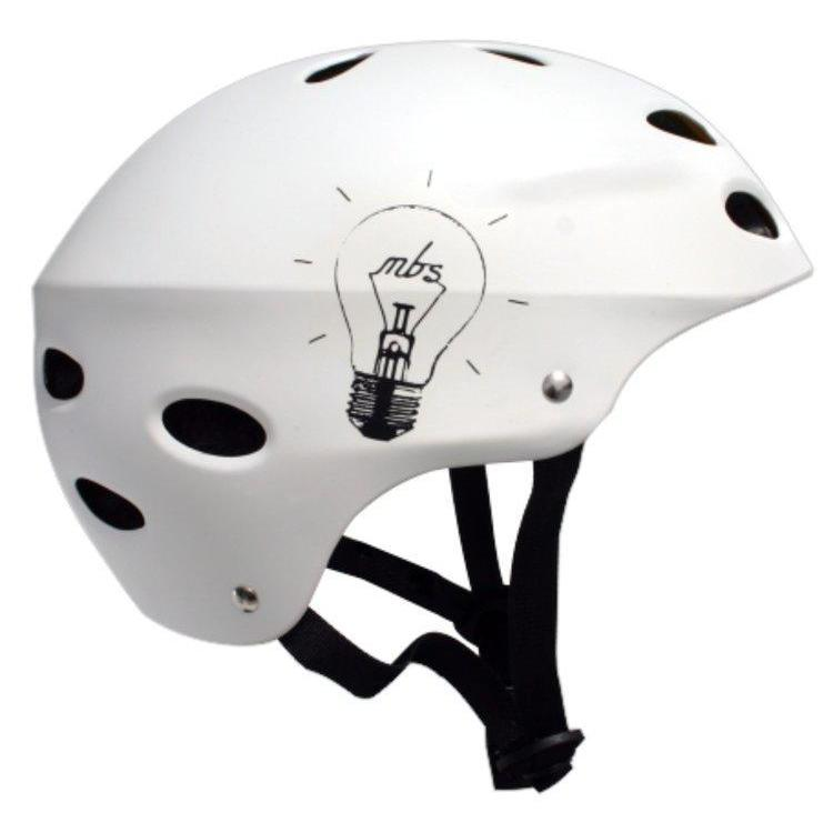MBS Bright Idea White Helmet-S/M/L/XL - Protective Gear Ridetique.com