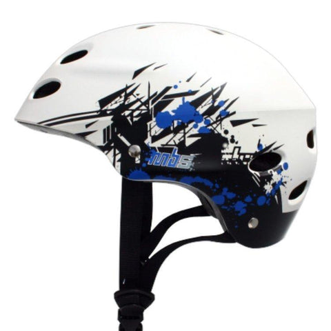 MBS White Graftstract Helmet - Protective Gear Small Ridetique.com