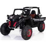 Mini Moto 12v 35w Kids 4x4 UTV with Remote Control - Ride On Toys Black Ridetique.com