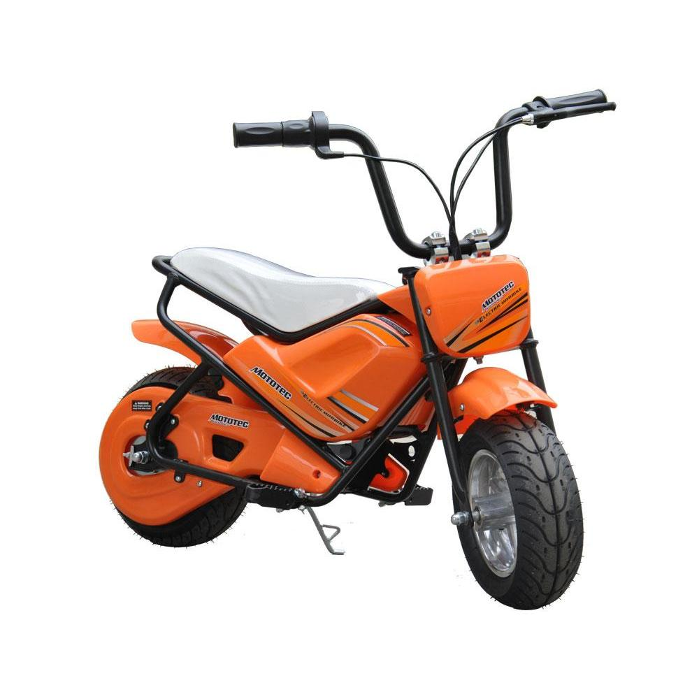 MotoTec 24v 250w Orange Electric Mini Bike - Electric Mini Bike Ridetique.com