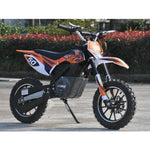 MotoTec 24v 500w Electric Powered Dirt Bike in Orange - Electric Dirt Bike Ridetique.com