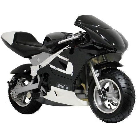 MotoTec 33cc 2-Stroke Gas Powered Pocket Bike - Gas Pocket Bike Blue Ridetique.com