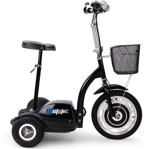MotoTec 36v 350w Sit or Stand Electric Powered Trike Scooter - Electric Scooter Ridetique.com