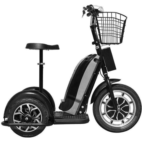 MotoTec 48v 800w Sit or Stand 3 Wheel Electric Powered Trike Scooter - Electric Scooter Ridetique.com