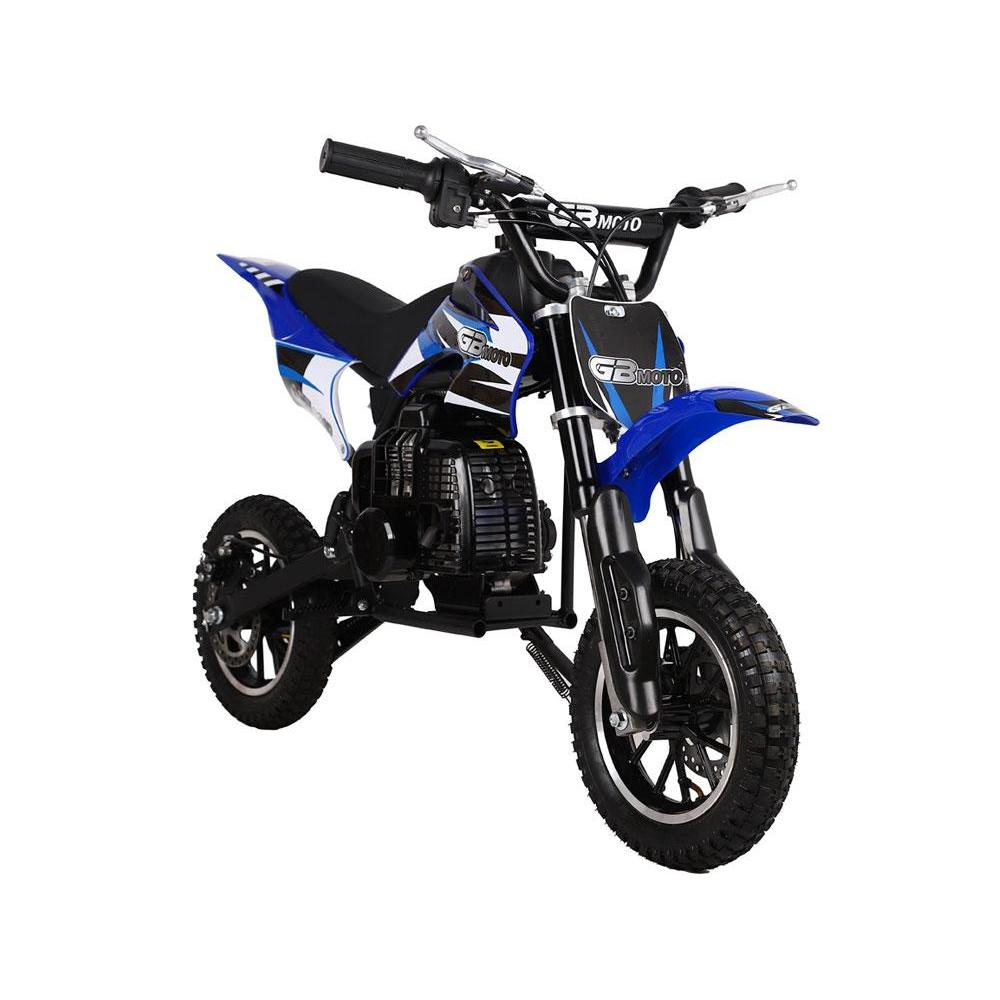 MotoTec 49cc 2-Stroke GB Dirt Bike - Gas Dirt Bike Blue Ridetique.com