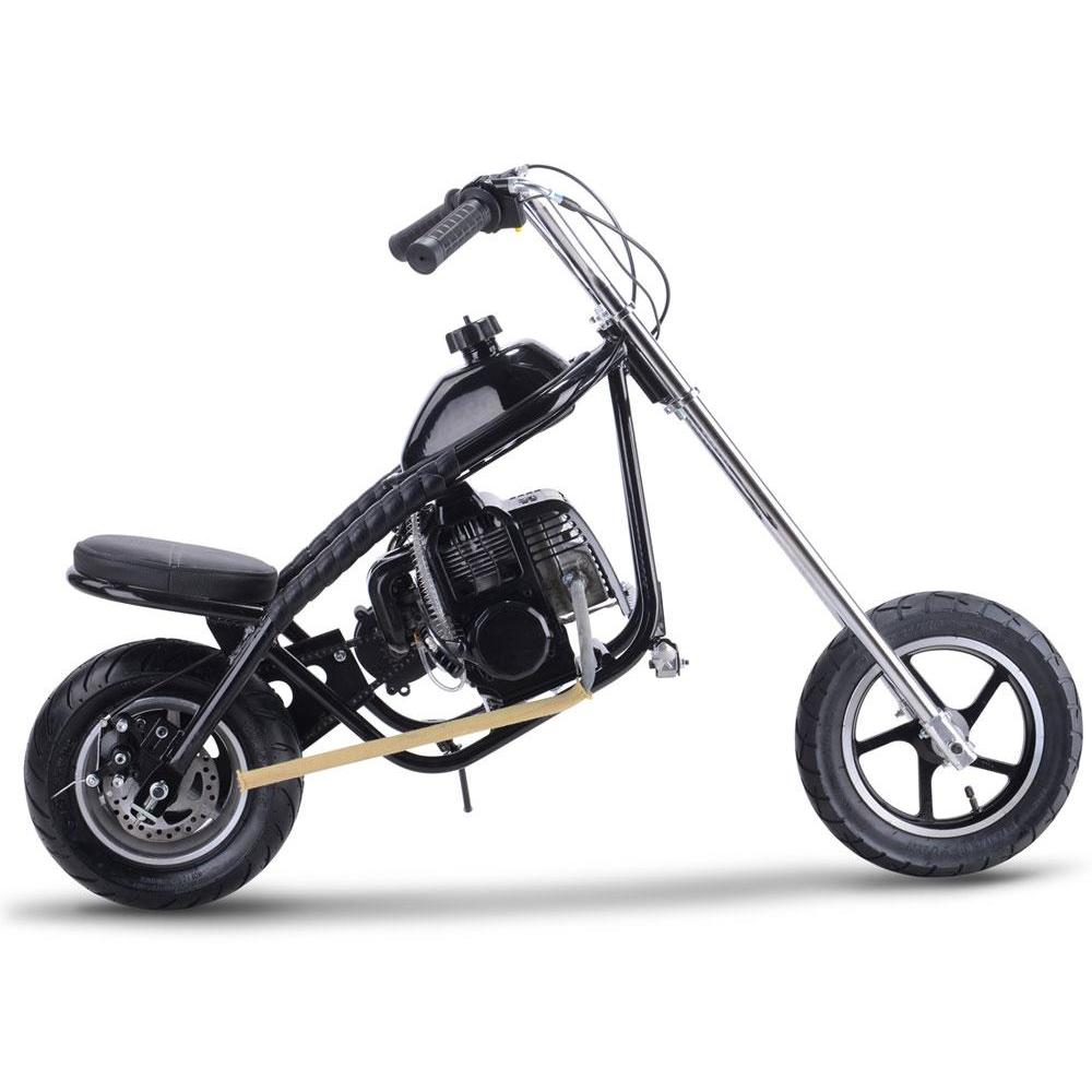 MotoTec 49cc Gas Mini Chopper - Gas Mini Chopper Black Ridetique.com