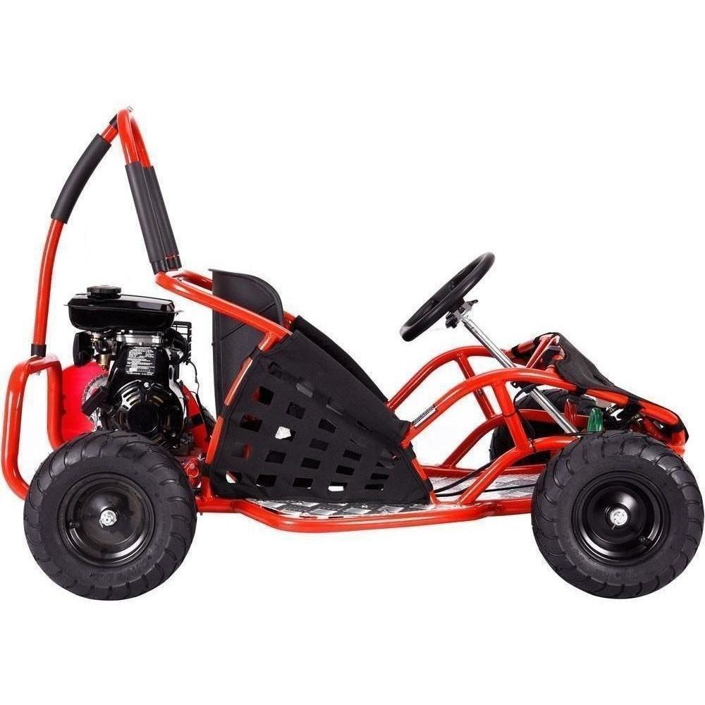 MotoTec 79cc 2.5Hp Gas Powered Off Road Go-Kart - Gas Go-Kart Red Ridetique.com