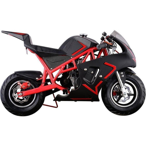 MotoTec Cali 40cc 4-Stroke Gas Powered Pocket Bike - Gas Pocket Bike Ridetique.com