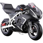 MotoTec Cali 40cc 4-Stroke Gas Powered Pocket Bike - Gas Pocket Bike White Ridetique.com