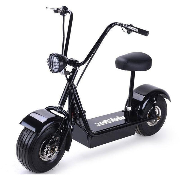 MotoTec FatBoy 500w Fat Tire Electric Powered Scooter Ridetique