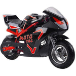 MotoTec GT 36v 500w Electric Powered Pocket Bike - Electric Pocket Bike Red Ridetique.com