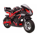 MotoTec GT 49cc 2-Stroke Gas Powered Pocket Bike - Gas Pocket Bike Red Ridetique.com