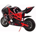 MotoTec GT 49cc 2-Stroke Gas Powered Pocket Bike - Gas Pocket Bike Ridetique.com