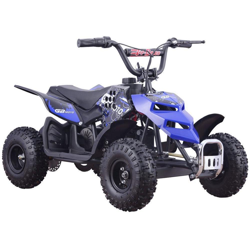 MotoTec Mini Monster V1 24v 250w Electric Powered Mini ATV Quad - Electric Mini Quad Blue Ridetique.com