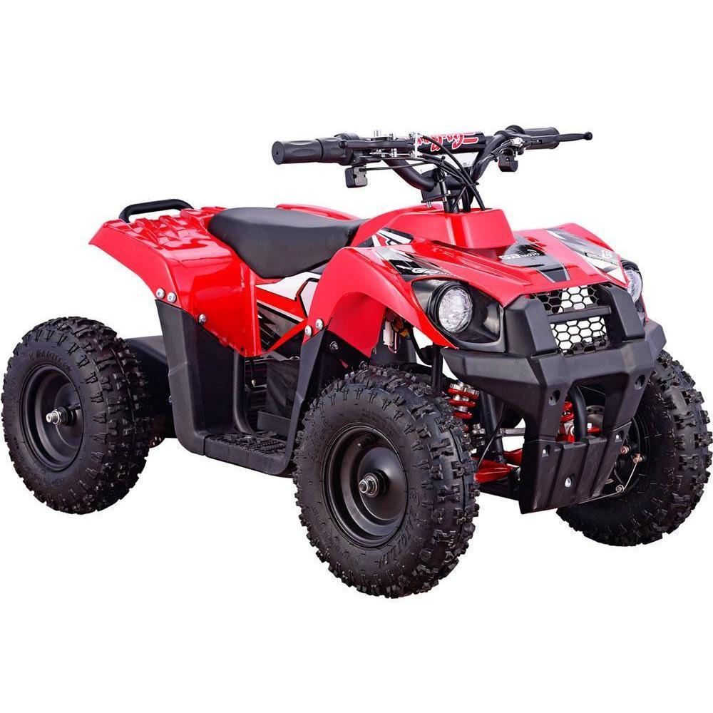 MotoTec Monster V6 36V 500w Kids Mini Quad Electric All-Terrain ATV Vehicle - Electric Mini Quad Red Ridetique.com