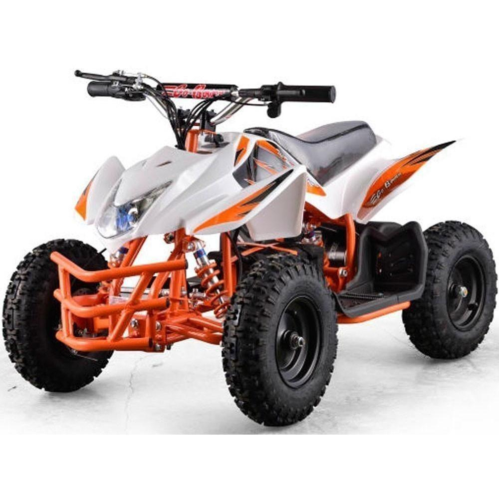 MotoTec Titan V5 24v 350w Electric Powered Mini Quad - Electric Mini Quad White Ridetique.com