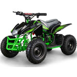 MotoTec Titan V5 24v 350w Electric Powered Mini Quad - Electric Mini Quad Green/Black Ridetique.com