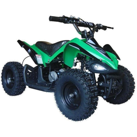 MotoTec V2 24v 350w Electric Powered Mini Quad - Electric Mini Quad Green Ridetique.com